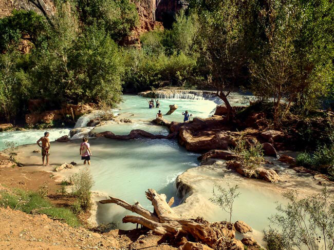 Havasu falls pools